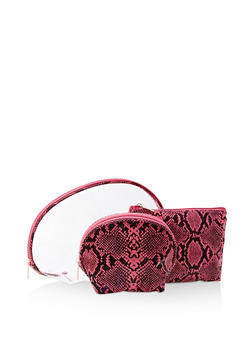 Clear Snake Print Cosmetic Pouch - 3163074391845
