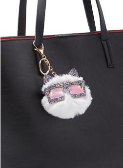Glitter Critter Pom Pom Keychain - 3163074393588