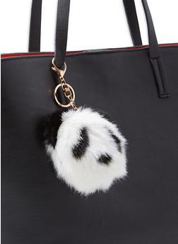 Pom Pom Panda Keychain - 3163074393833