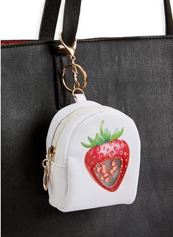 Strawberry Mini Backpack Keychain - 3163074393978
