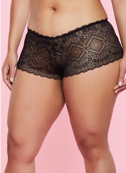Plus Size Keyhole Cheeky Hipster Panty | 3168064873269 - 3168064873269