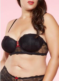 Plus Size Lace Ballconette Bra - 3169064872274