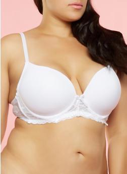Plus Size Padded Lace Bra - 3169064878828