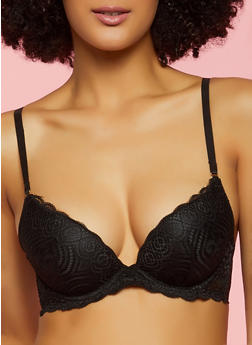 Black Plunge Bra | Converts to Strapless - 3172068068811