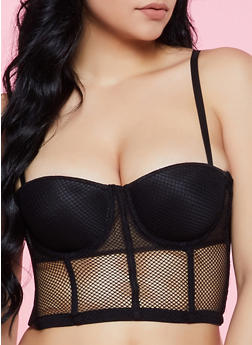Fishnet Corset Bra | Converts to Strapless - 3175064874071