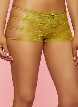 Caged Side Lace Boyshort Panty | 3176068065211 - 3176068065211