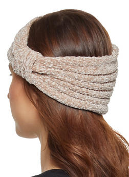 Chenille Knot Front Head Wrap - 3183067444932