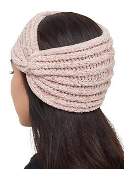 Chenille Twist Front Head Wrap - 3183067444933