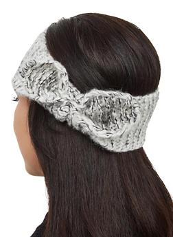 Knit Bow Head Wrap - 3183067444935
