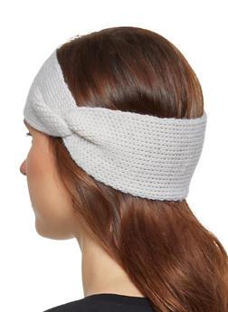 Knit Twist Front Head Wrap - 3183067444943