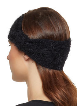 Feathered Knit Head Wrap - 3183067444945