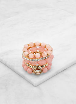 Rhinestone Stretch Bracelets Set - 3193035155520