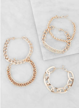 Set of 5 Chain Link Bracelets - 3193035155935
