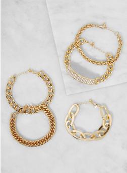 Set of 5 Chain Link Bracelets - 3193035155935