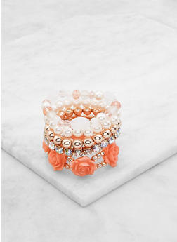 Assorted Beaded Stretch Bracelets Set - 3193062810086