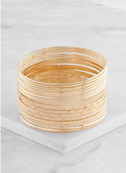Plus Size Metallic Bangles - 3193062811158