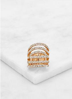Tiered Rhinestone Stretch Ring - 3193062817087