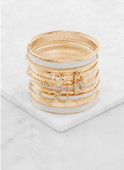 Plus Size Womens Gold Bangle Bracelets