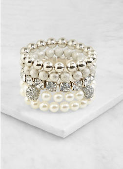 Set of 5 Stretch Bracelets - 3193062922574