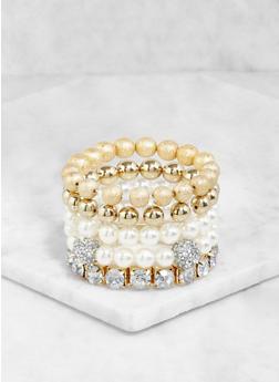 Set of 5 Stretch Bracelets - 3193062922574
