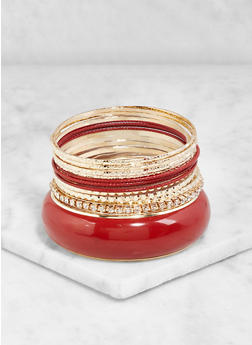 Plus Size Set of 13 Assorted Bangles - 3193062924764