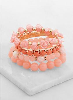 Pack of 4 Assorted Stretch Bracelets - 3193071210155