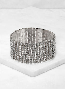 Metallic Rhinestone Stretch Bracelet - 3193071430033