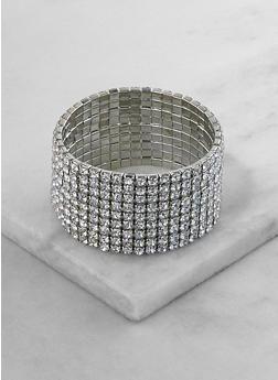 Rhinestone Stretch Bracelet - 3193071435133