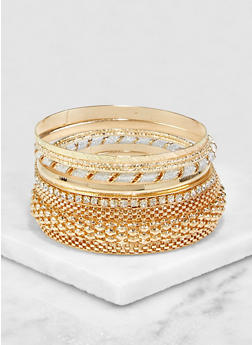 Plus Size Assorted Glitter Twist Bangles Set | 3193072692841 - 3193072692841