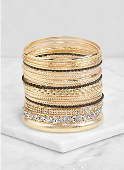 Plus Size Rhinestone Bangle Bracelets