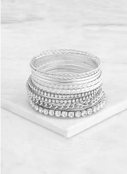 Chain and Rhinestone Bangles - 3193073841721