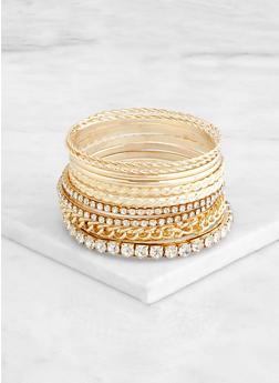 Chain and Rhinestone Bangles - 3193073841721