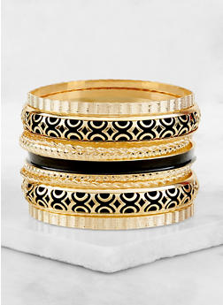 Painted Metallic Bangles - 3193073842095