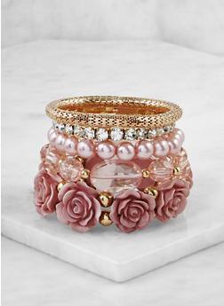 Set of 5 Assorted Stretch Bracelets - 3193073843411