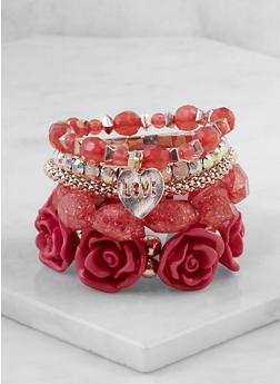 Set of 5 Assorted Stretch Bracelets - 3193073843412