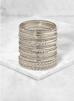 Textured Metallic Bangles - 3193073843786