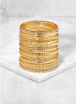 Textured Metallic Bangles - 3193073843786
