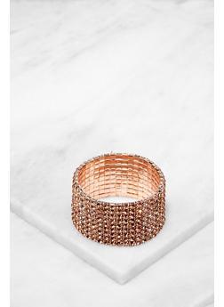 Rhinestone Stretch Bracelet - 3193074141062