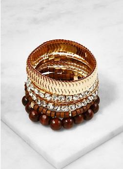 Set of 6 Assorted Stretch Bracelets - 3193074171332