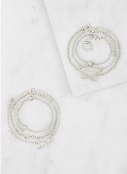 Set of 6 Metallic Bracelets - 3193074374437