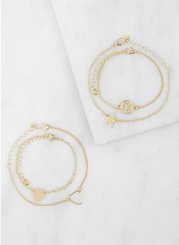 Set of 4 Metallic Bracelets - 3193074378829