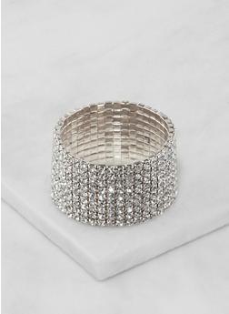 Rhinestone Stretch Bracelet - 3194003200841
