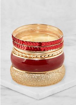 Plus Size Sequin Glitter Bangles - 3194062920572