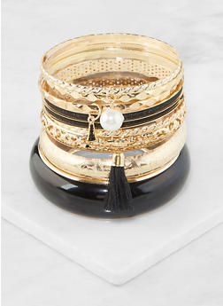 Plus Size Set of Assorted Bangles - 3194062921299