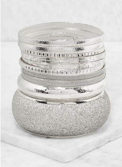 Plus Size Glitter Bangles - 3194062921321