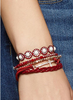 Set of 5 Assorted Bracelets - 3194062922058