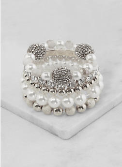 Set of 5 Assorted Stretch Bracelets - 3194062922076