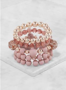 Rhinestone Beaded Stretch Bracelets - 3194062923355