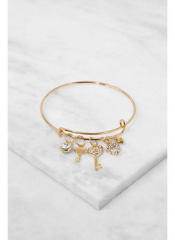 Adjustable Charm Bangle - 3194063091957