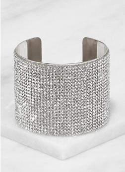 Rhinestone Cuff Bracelet - 3194067257262
